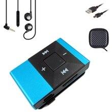 Gdlyl Portátil MP3 Music Player Mini Clipe Multicolor MP3 Player com Micro TF/Cartão SD Slot + Fone de Ouvido + caixa + USB De Armazenamento cabo
