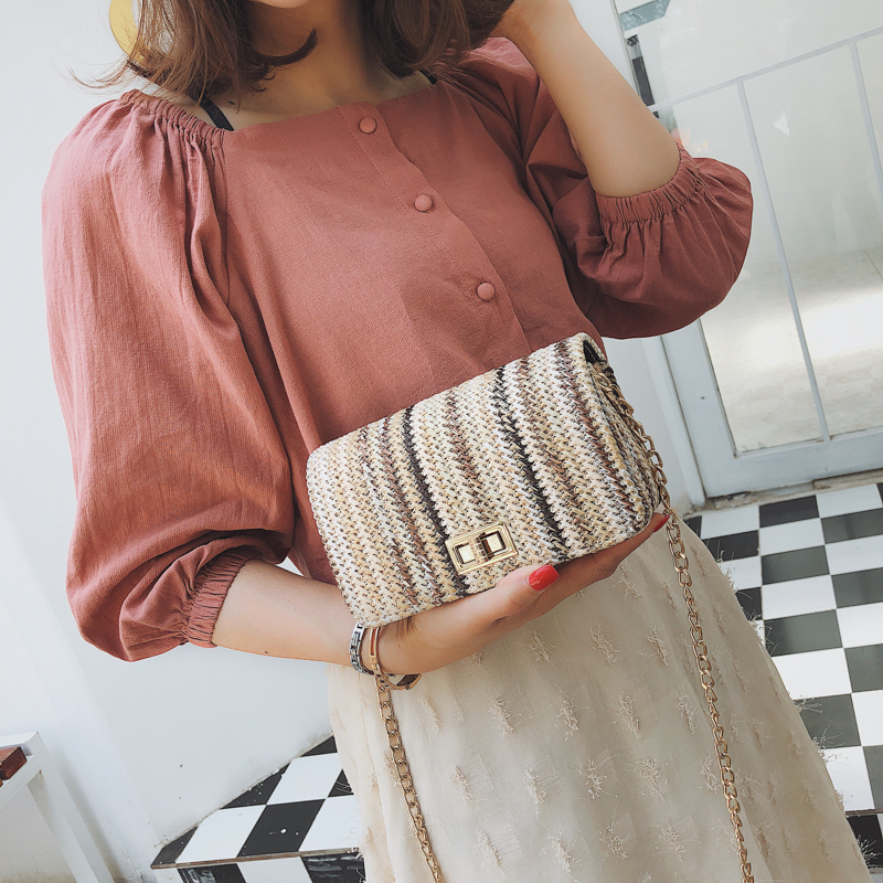 Summer straw bag Brand luxury handbags women bags designer weaved women crossbody bags for women 2018 shoulder bag women
