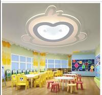 Детская комната привело потолочный светильник мультфильм обезьяна Для мальчиков и девочек простой Eye Care теплый и романтичный спальня потол