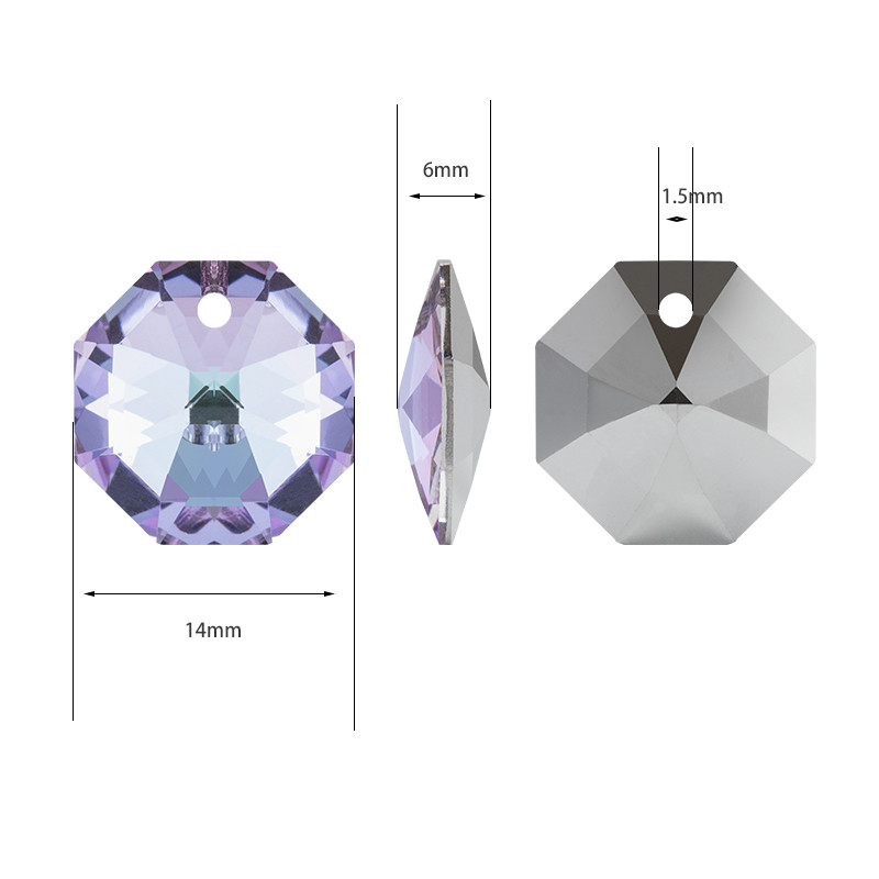 Jewelry accessories K9 Glass Rhinestones Pendant Necklace Clear Crystal Pendant lights Shining Tiny Diamond Pendant DIY Earring in Rhinestones from Home Garden