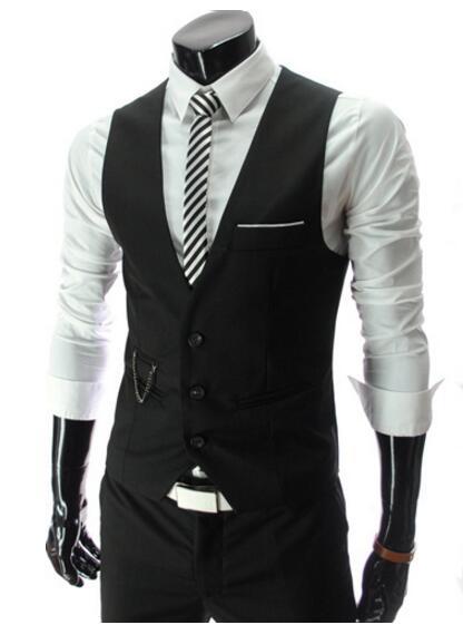 Men Vest Chaleco Hombre Coletes Waistcoat Men Suit Vest Homens Colete