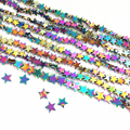 Best-selling fashion multicolored natural hematite stone 6mm 8mm 10mm star shape beads loose Beads diy Jewelry B186