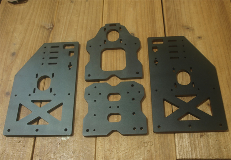 SWMAKER Openbuilds OX CNC Taller Gantry Plate Kit OX CNC Aluminum Taller Gantry Side Plates Tall Wheel X Plate 10 Mm Thickness