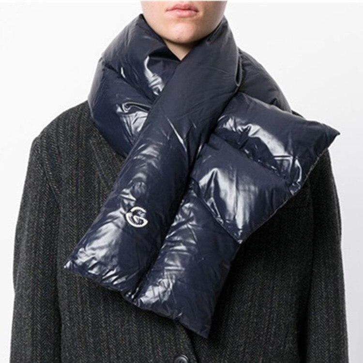 ダウンフェザースカーフの女性の男性の冬のスカーフ襟リング厚く暖かい無地恋人スカーフ 112*20 センチメートル