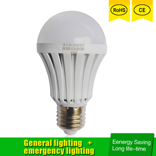 Led Emergency Light E27 5w 7w 9w Bulb Rechargeable Battery Lighting Lamp For Outdoor