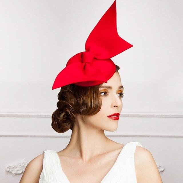 2016 High Quality Francia Parigi Donne Elegante Grande Fiocco di Lana  cappelli da Donna Berretti Autunno 4b77272da6ec