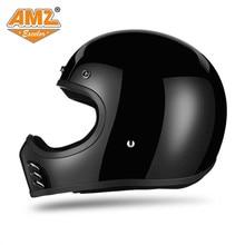 АМЗ Harley ГОНКИ стекловолокна мотоцикл круиз Ретро Винтаж шлем Capacete мотокросс шлем мото шлем