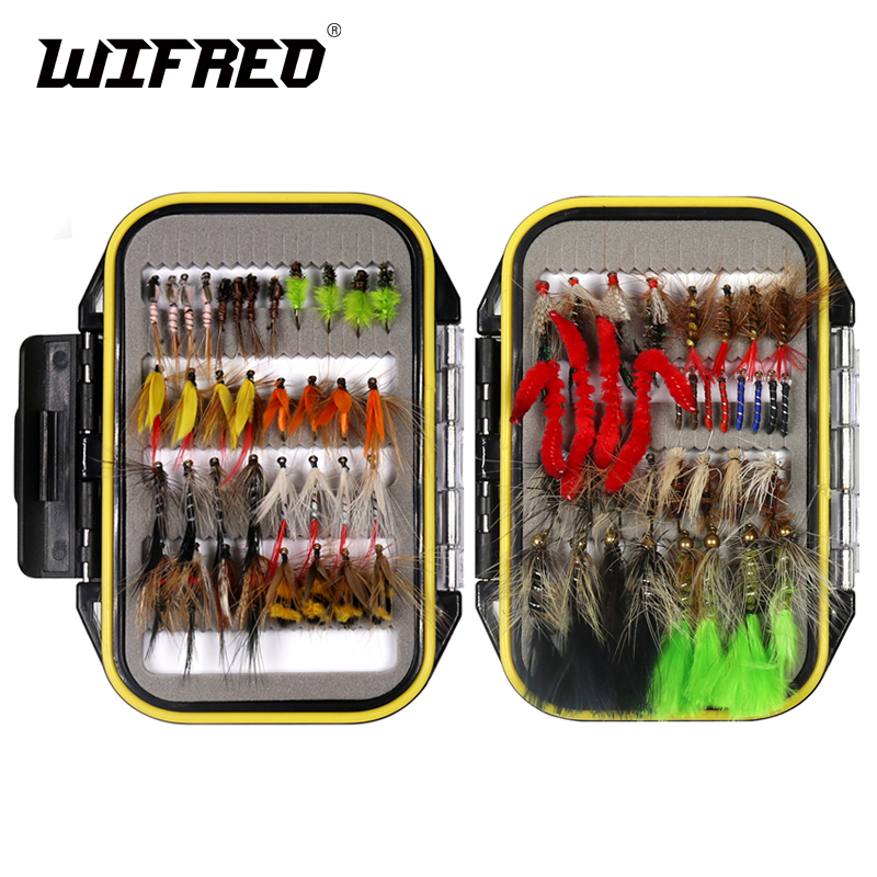 32/50/214PCS Fly Fishing Lure Dry Wet Flies Nymph Streamer Artificial Pesca Bait Lure Carp Trout Pesca Fishing Tackle Fly Box