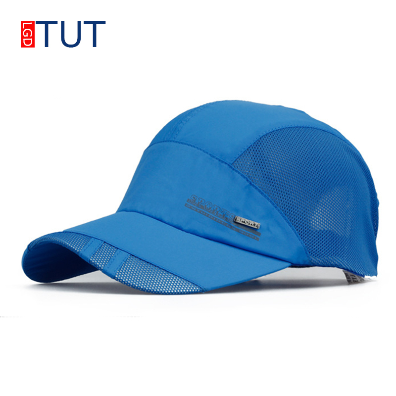 New Summer Sport Mesh Baseball Cap Outdoor Sun Quick Dry Breathable Hats Men Women Adjustable Waterproof Quick-Drying Cap LGDTUT
