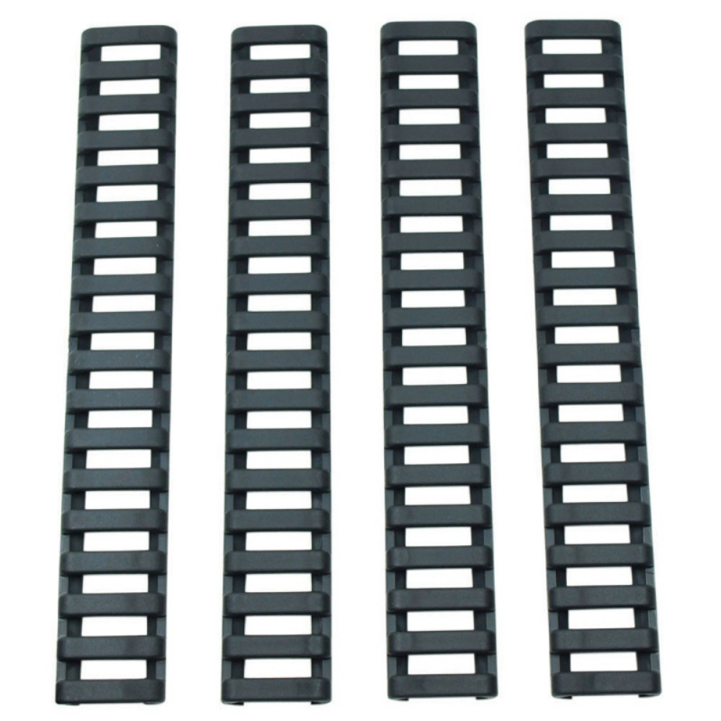 4 Pcs/Set Rifle Handguard Heat Fish Bone Resistant Ladder Rubber Picatinny Rail Covers 3 Colors