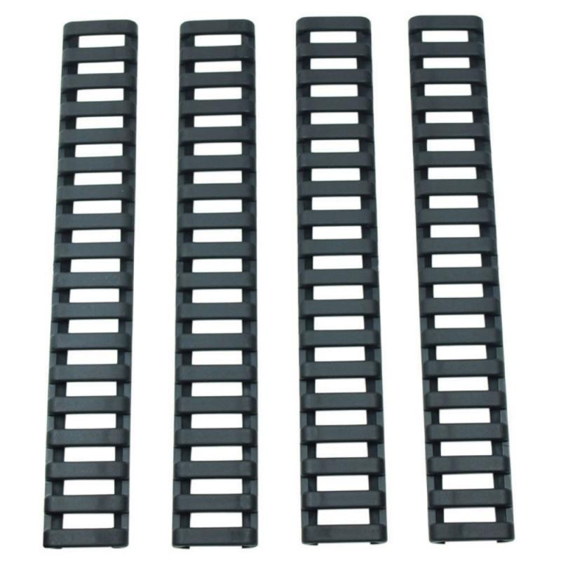 4 Pcs/Set Rifle Handguard Heat Fish Bone Resistant Ladder Rubber Picatinny Rail Covers 3 Colors