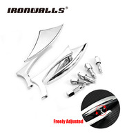 1 Pair Custom Universal Motorcycle Rearview Mirrors Triangle Blade Arrow Cruiser Chopper Side Rear View Mirrors
