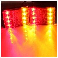 TOYL 2 Light LED Rear Board Lamps Tail BRAKE STOP INDICATOR LAMP Trailer Truck Lorry