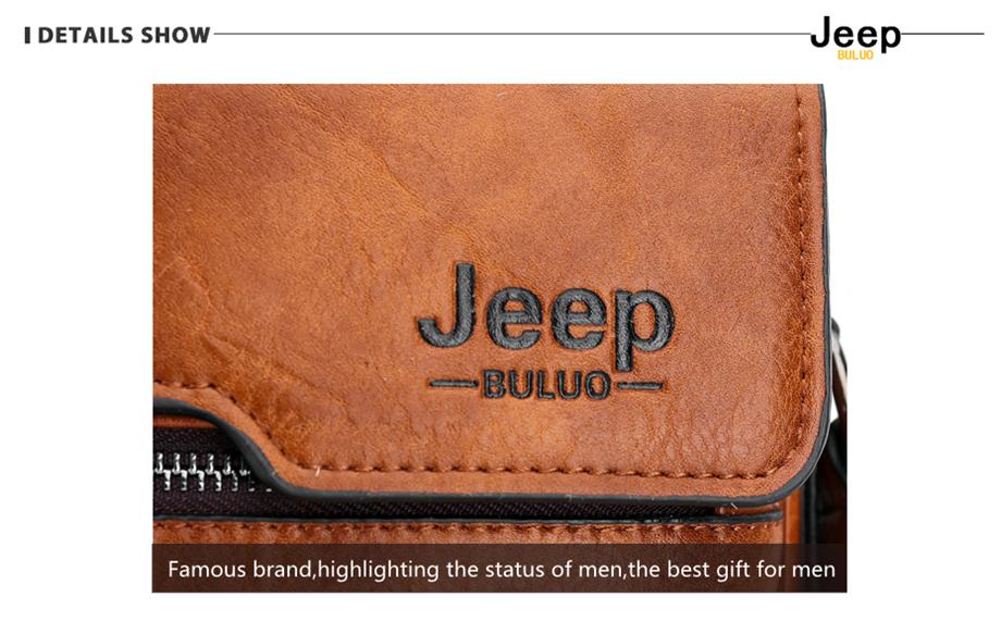 JEEP BULUO Luxury Brand Men Messenger Bags Crossbody Business Casual Handbag Male Spliter Leather Shoulder Bag Large Capacity 19