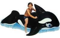 Floating Animals Mounts Children's Black Whale Water Rides Inflatable Swim Air Mattresses Beach Toys Water Sports