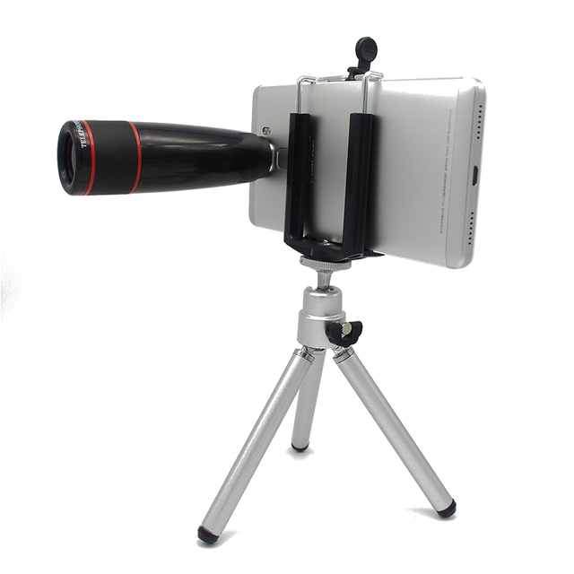 Universal  Kit Phone Camera Lenses12X Zoom Telephoto Telescope Lens With Clips Tripod Car Phone Holder For Samsung Xiaomi