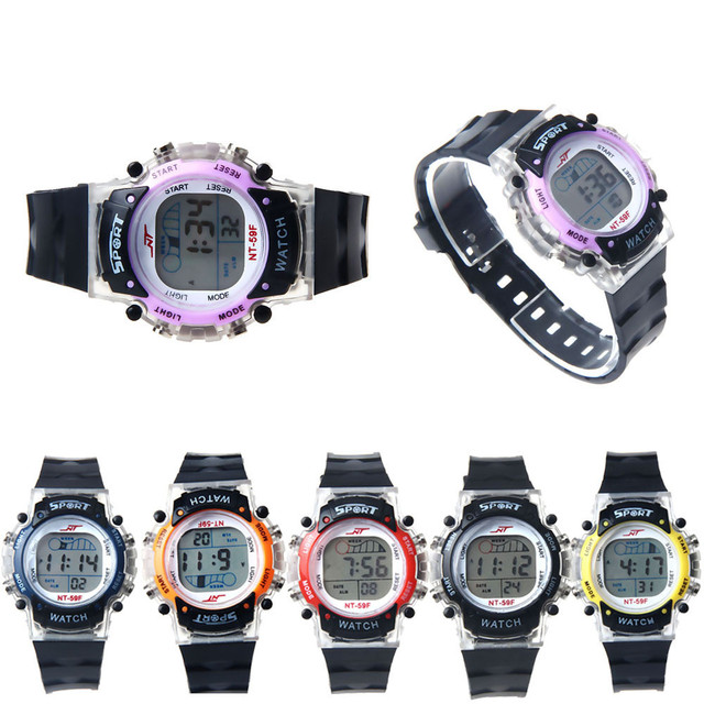 Colorful LED Electronic Sports Children Watches Casual Kid Girl Boy Clock Digita