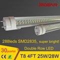 4ft 1.2 m 1200mm LED Tubo T8 LEVOU Tubos Lâmpadas Luzes Super Brilhante 25 W 28 W AC110-277V