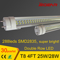 T8 LED Tubes 4ft 1.2m 1200mm LED Tube Bulbs Lights Super Bright 25W 28W AC110-277V