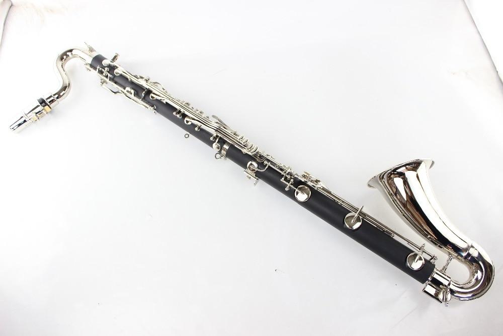 Buffet Noir Clarinette Basse Professionnel 19 Touche B Clarinette Plat Tuning Acajou Clarinette Argenture Clé Touches klarnet avec logo