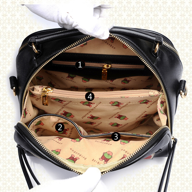 Women Fashion  Leather Bags Oil Picture Pattern Luxury Handbags Women Bags Design Tote