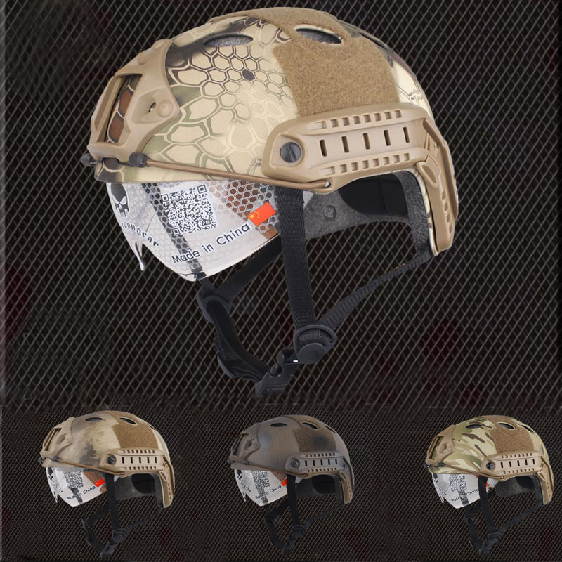 Emerson шестерни быстро шлем с защитным Goggle PJ Тип тактический боевой шестерни военный страйкбол Бесплатная доставка