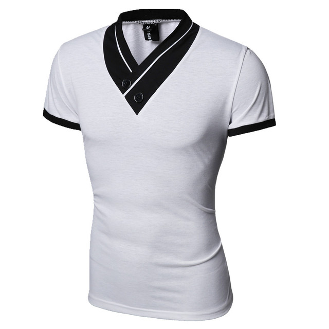 New Mens' V-Neck T-Shirt