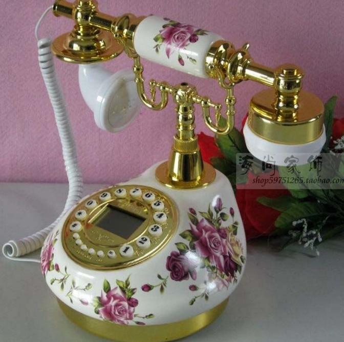 Ehrlich Hintergrundbeleuchtung + Freisprechen + Caller Id + Blau Freisprecheinrichtung Bluescreen Keramik Antiken Telefon Fortgeschrittene Technologie üBernehmen