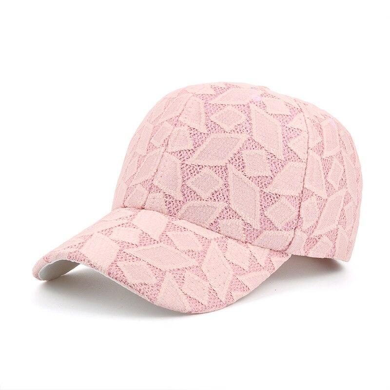 Prix pour Chaude bec recourbé strapback vent casquettes de baseball femmes respirant dentelle géométrique diamant motif snapback chapeaux filles occasionnel gorras