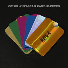 New 10Pcs Color Anti magnetic Credit Bank Card Sleeves Protector Aluminum Foil Anti Scan Card Holder Access Control Card Keeper