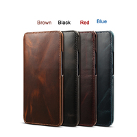 NEWISDOM Original For huawei mate 20 pro Case Leather NATURAL Wallet Flip Cases for mate20 phone Cover Card Pocke Cowhide brown