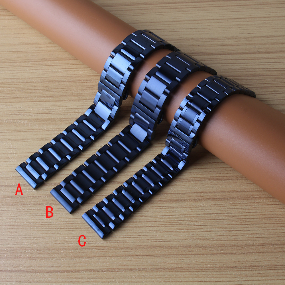 new Quality 20mm 22mm stainless steel Watchbands For Samsung Gear S2 S3 S4 Smart Watch Band Strap bracelet Blue metal promotion excellent quality 20mm quick release watch band strap for samsung galaxy gear s2 classic stainless steel strap bracelet