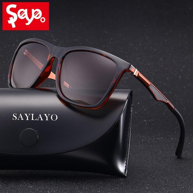 SAYLAYO 2019 New Vintage Fashion Polarized Sunglasses Women Car Driving Sun Glasses 100% UV400 protection retro Goggles Eyewear