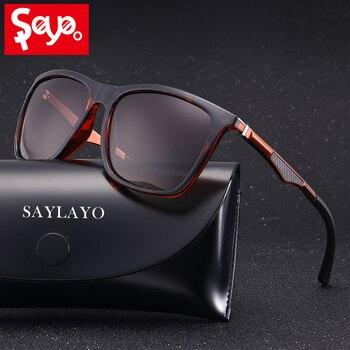 266059d317 SAYLAYO 2019 nuevas gafas de sol polarizadas de moda Vintage para mujer gafas  de sol de conducción de coche 100% UV400 gafas de protección retro gafas