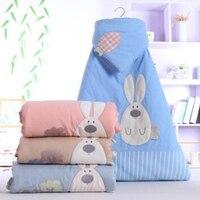 2019 new baby quilt striped color cotton newborn newborn cartoon embroidered cotton blanket spring