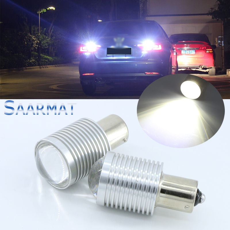 2x 1156/BA15S  P21W  w/ CREE Chips Q5 5W  Canbus  Error Free  White LED Car Reverse Bulb  For  BMW X3 X5 E53 E70 Z3 Z4  Etc wljh 2x canbus 20w 1156 ba15s p21w led bulb 4014smd car backup reverse light lamp for bmw 228i 320i 328d 328i 335i m3 x1 x4 2015