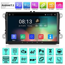 цены VODOOL 9in LCD Screen Android 7.1 1080P 2G+16G Car Stereo MP5 Player 3G 4G WiFi Bluetooth Quadcore FM/AM Radio USB GPS for VW