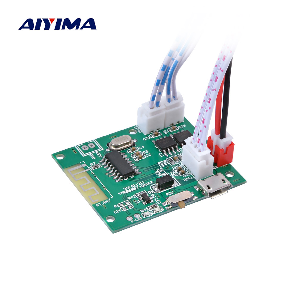 AIYIMA Mini Bluetooth Amplifier Board 5W*2 Stereo Power Amplifiers Bluetooth 5.0 Decoder Audio Module With Charging