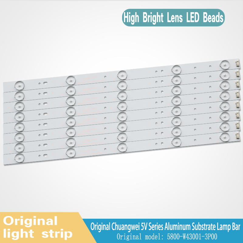 LED Backlight Strip For 43E3000 43E3500 43E6000 E465853 Lamp 5800-W43001-3P00 VER01.00 02K03177A LG Screen RDL430WY LD0-10D