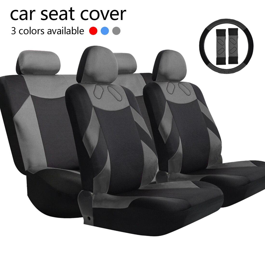 Dewtreetali автомобилей чехлы Универсальный сиденья авто Защитная крышка полиэстер синий и красный цвета серый автомобиль подушки сиденья авто...