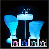 LED Bar Furniture illuminated Outdoor Decorative Coffee Bar Table SK-LF21A (D60*H106cmcm) for Event Party Wedding 1pc