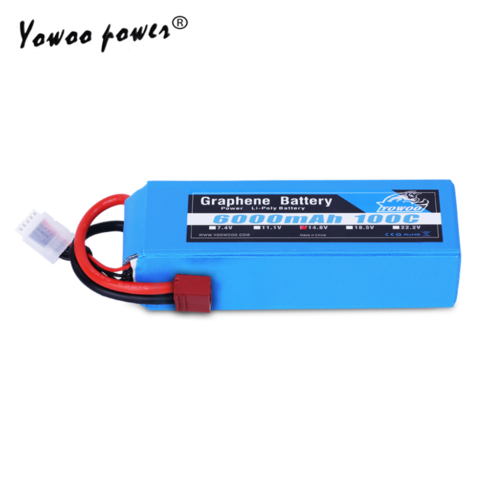 Lipo 4S Battery 14 8V 6000mAh 100C Max 200C Graphene Battery XT90 Plug High Discharger Rate