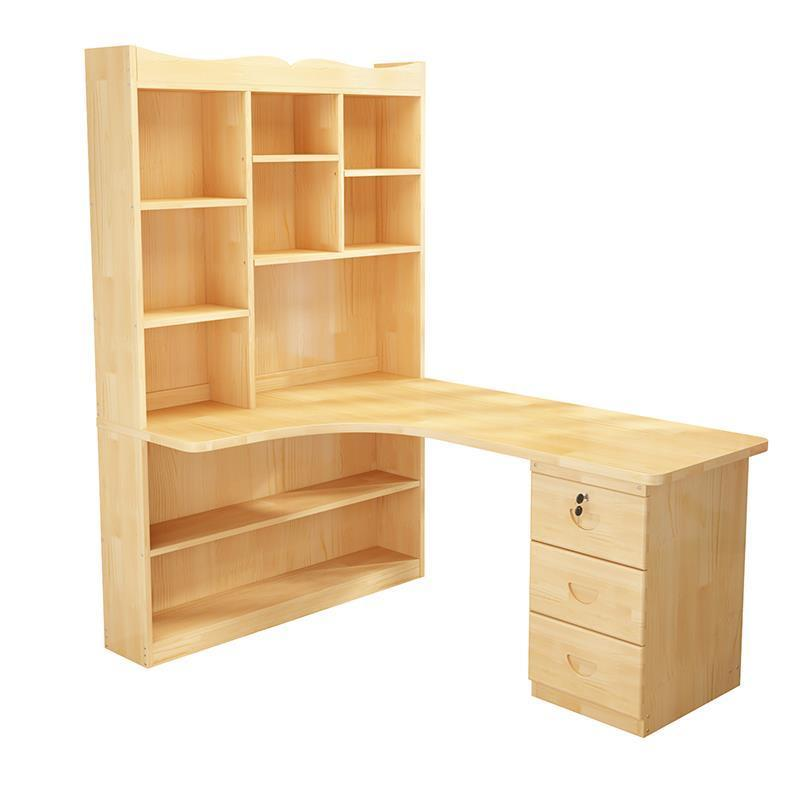 Lit De bureau Oficina Escritorio Support Ordinateur Portable Vintage bois Ordinateur table De chevet table d'ordinateur Portable avec étagère