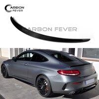 W205 Carbon Fiber C43 Rear Trunk Spoiler For Mercedes C Class W205 2 door Coupe 2015 + C300 C350