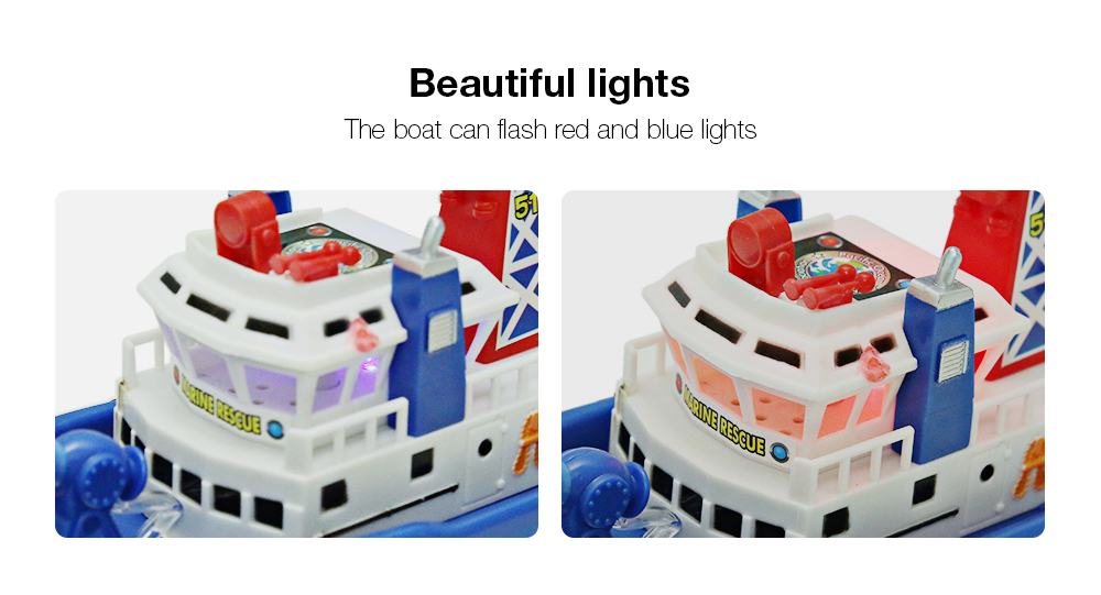 Electric Boat Children Marine Rescue Toys Boat Fire Boat Children Electric Toy (3)