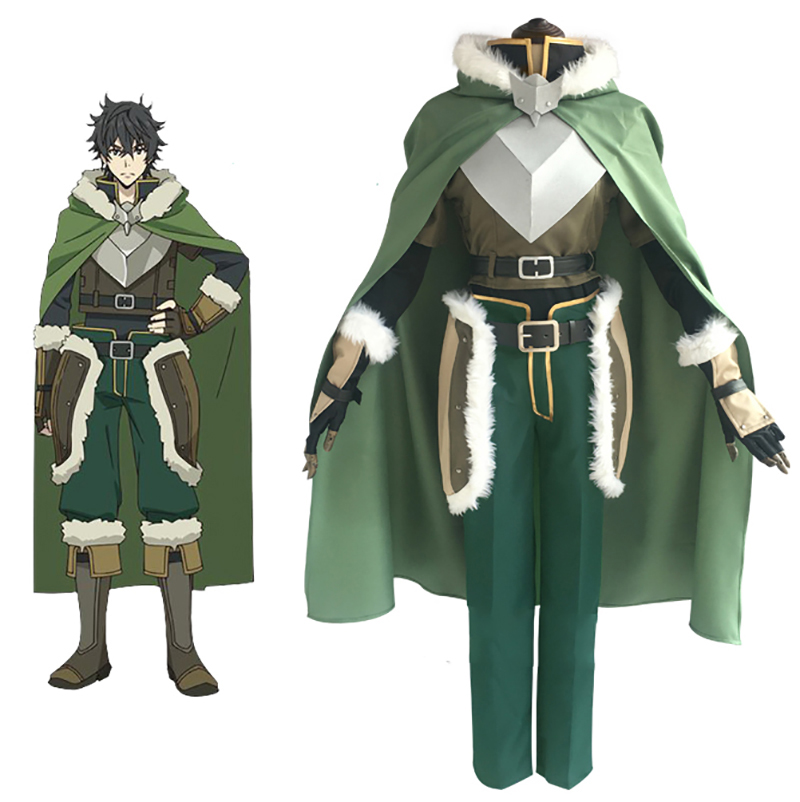 The Rising Of The Shield Hero Naofumi Iwatani Cosplay Costume with Boot any size