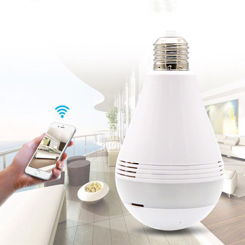 Image 2 - 360 Degree Wireless WIFI IP Light Camera 1080P Bulb Lamp Panoramic FishEye Smart Home Monitor Alarm CCTV WiFi Security Camera-in Surveillance Cameras from Security & Protection