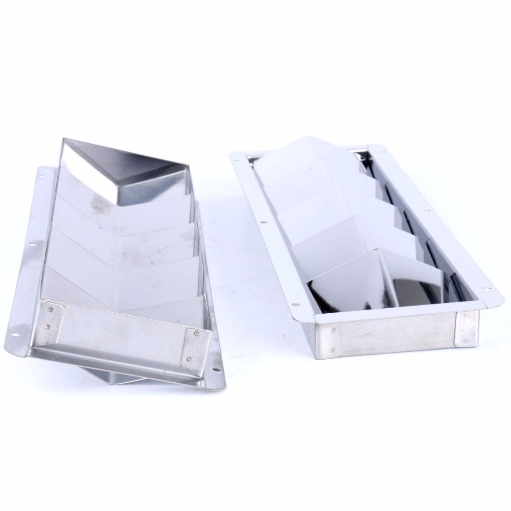 A Pair Of Stainless Steel Boat Marine Vent 5 Louver Big Air 12-3/4 X 4-3/8