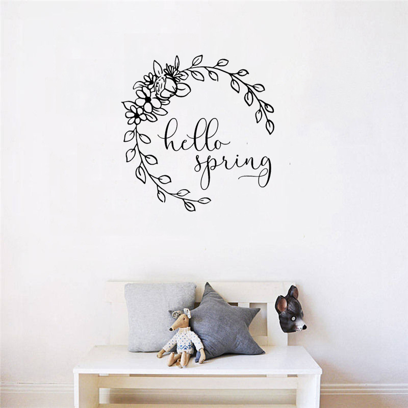 Flower Dream Catcher Wall Sticker Kids Gift Nursery Decal Home Decor Art Mural