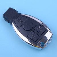 DWCX 3 Buttons 433MHZ BGA Chip Smart Remote Key Fob Shell Key Replacement Fit for Mercedes Benz 2000 2015 2016 2017